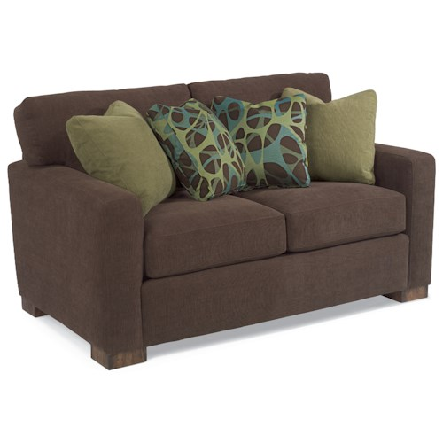 Flexsteel Bryant Contemporary Loveseat with Loose Pillow Back