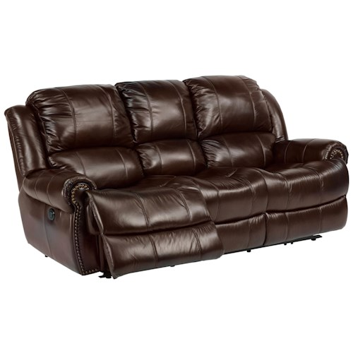 Flexsteel Chan Power Reclining Sofa with Traditional Furniture Style