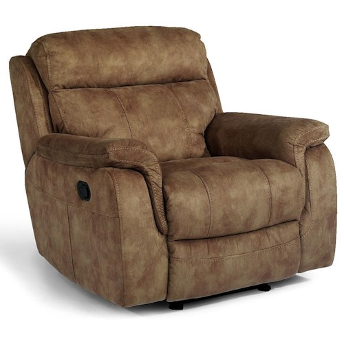 Flexsteel Latitudes - Casino - -660344646 Glider Recliner with Padded Headrest