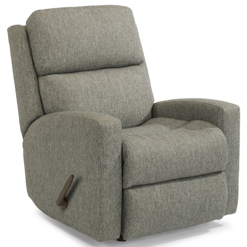 Flexsteel Catalina Contemporary Casual Rocking Recliner