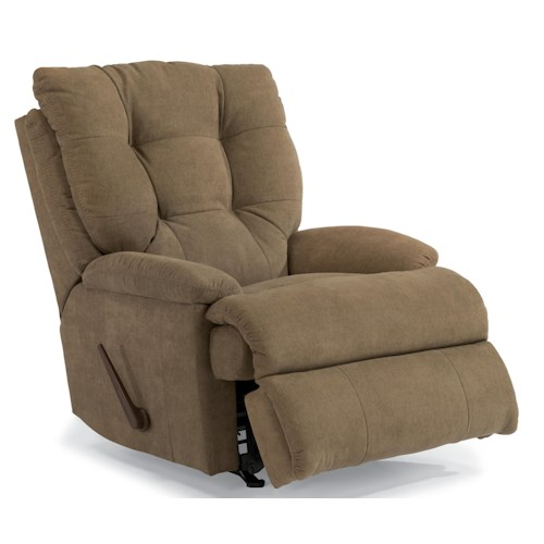 Flexsteel Latitudes - Clarke Casual Rocker Recliner with Tufted Back