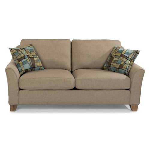 Flexsteel Claudine Two Seater Apartment Sofa with Flared Arms