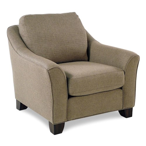 Flexsteel Caberet Chair with Flared Arms
