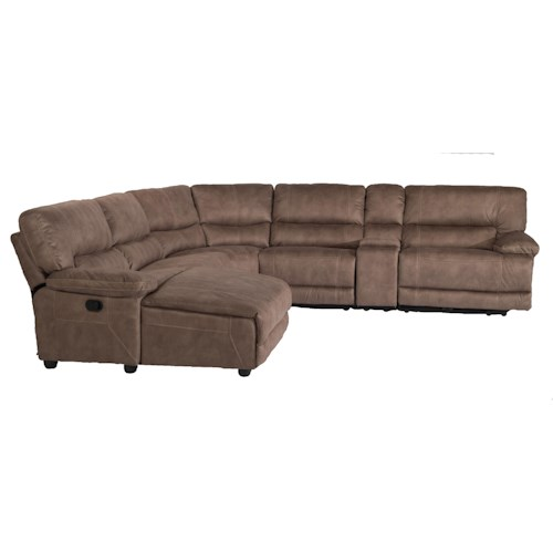 Flexsteel Latitudes - Delia Six Piece Power Reclining Sectional Sofa with LAF Chaise