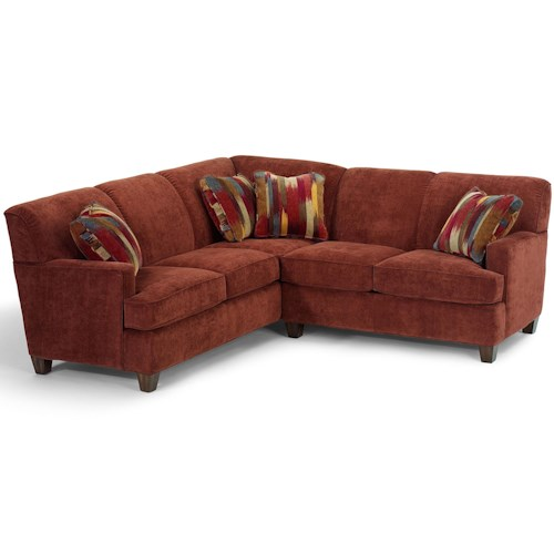 Flexsteel Dempsey Contemporary 2 Piece Sectional Sofa with RAF Loveseat
