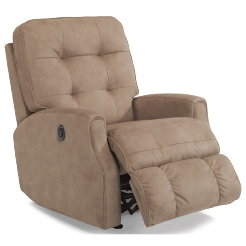 Flexsteel Devon Button Tufted Power Rocker Recliner