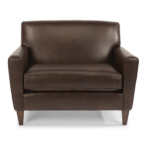 Flexsteel Chazz Contemporary Chair and 1/2