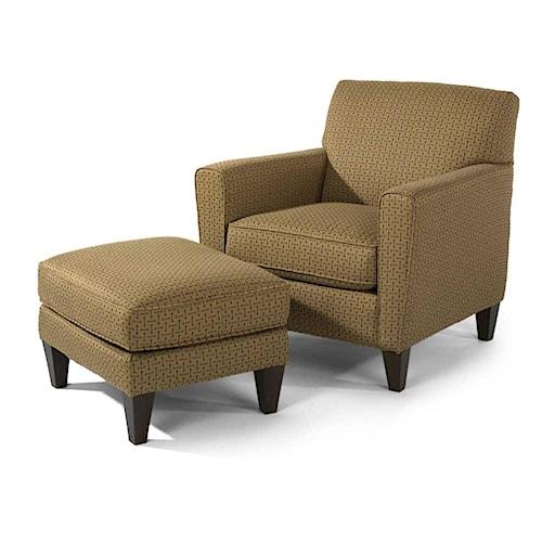 Flexsteel Digby Chair and Ottoman Set
