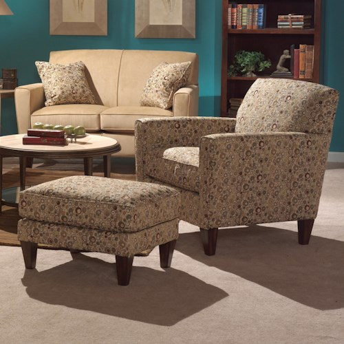 Flexsteel Digby Chair and Ottoman Set