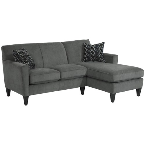 Flexsteel Digby Contemporary Sectional Sofa with RAF Chaise