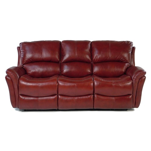 Flexsteel Marcello Casual Reclining Sofa with Power Motion and Folded Pillow Arms