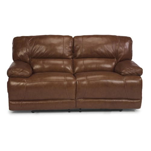 Flexsteel Fleet Street Double Power Reclining Loveseat