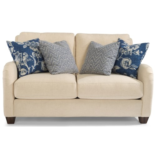 Flexsteel Fortuna Transitional Loveseat with English Arms