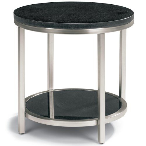 Flexsteel Galaxy Lamp Table with Granite Top