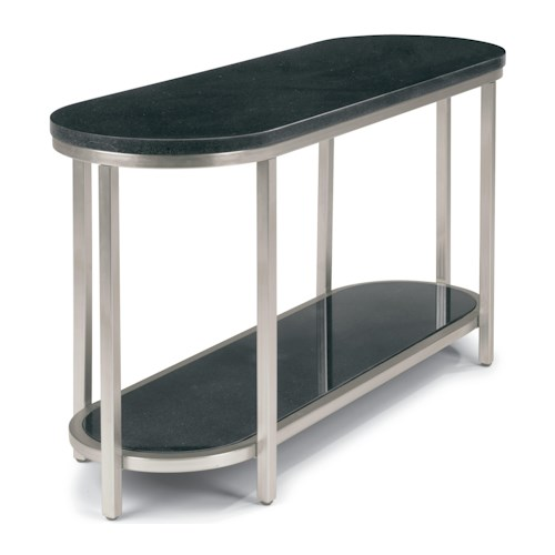Flexsteel Galaxy Sofa Table with Granite Top