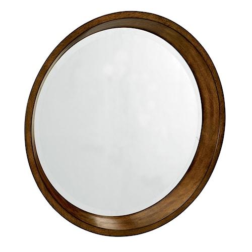 Flexsteel Gemini Round Porthole Wall Mirror