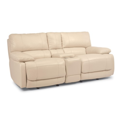 Flexsteel Latitudes - Hermosa Rocking Reclining Love Seat with Console
