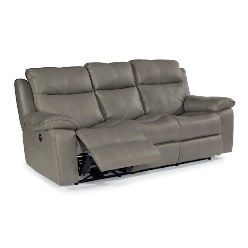 Flexsteel Latitudes - Julio Power Reclining Sofa with Bustle Backs