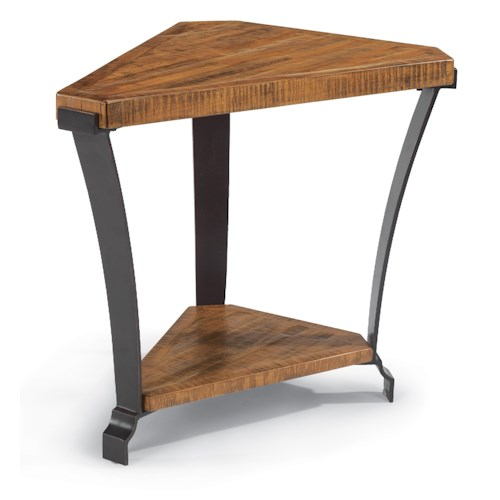 Flexsteel Kenwood Wedge Shaped Occasional Table