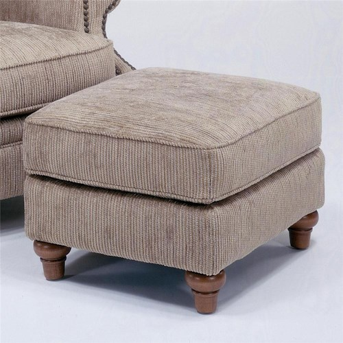 Flexsteel Killarney Ottoman w/ Nail Head Trim