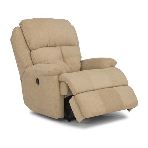 Flexsteel Latitudes - Cruise Control Casual Styled Power Recliner with Decorative Back Tuft