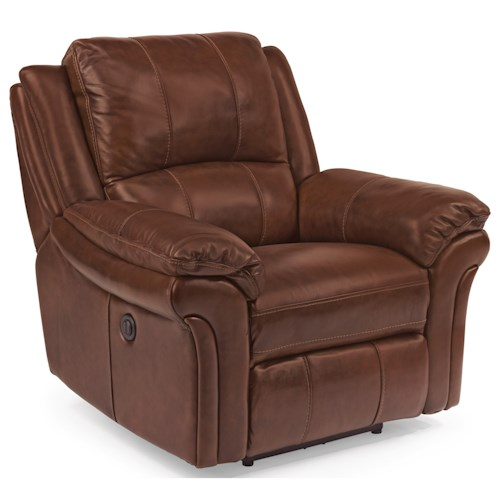 Flexsteel Latitudes - Dandridge Casual Power Recliner with Contrast Stitching