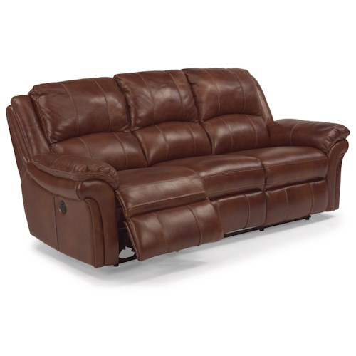 Flexsteel Latitudes - Dandridge Casual Power Reclining Sofa with Contrast Stitching