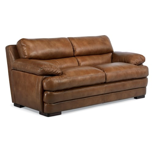 Flexsteel Latitudes - Dylan Leather Two Cushion Sofa