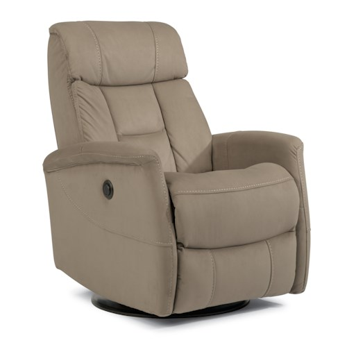 Flexsteel Latitudes Go Anywhere Recliners Hart Queen-Size Power Swivel Glider Recliner