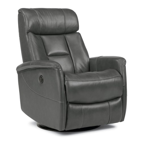 Flexsteel Latitudes Go Anywhere Recliners Hart King-Size Power Swivel Glider Recliner