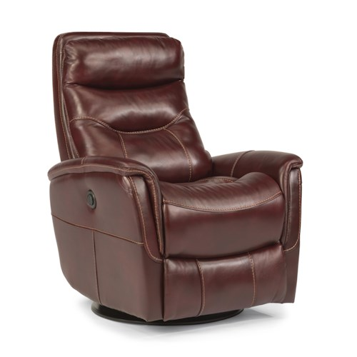 Flexsteel Latitudes Go Anywhere Recliners Alden Queen-Size Power Swivel Glider Recliner