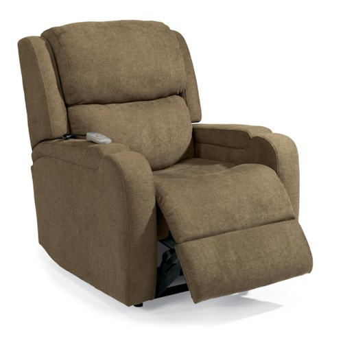 Flexsteel Latitudes Lift Chairs Melody Infinite-Position Lift Recliner with Visco Gel Cushion and Lay-Flat
