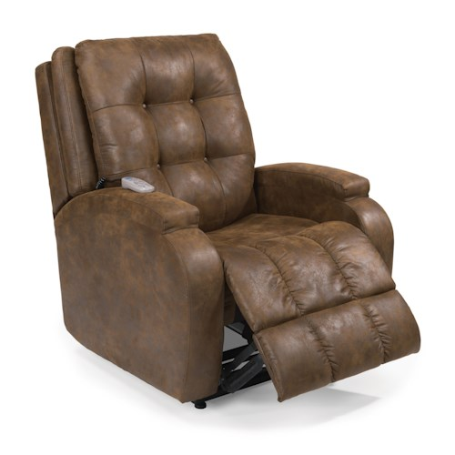Flexsteel Latitudes Lift Chairs Orion Infinite-Position Lift Recliner with Visco Gel Cushion and Lay-Flat