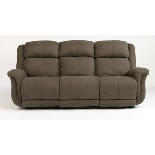 Flexsteel Latitudes-Brookings Casual Power Reclining Sofa with USB Ports