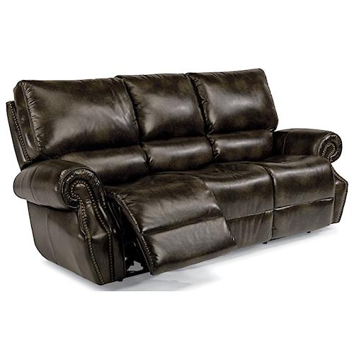 Flexsteel Latitudes-Colton Power Reclining Sofa with Power Tilt Headrests and USB Ports