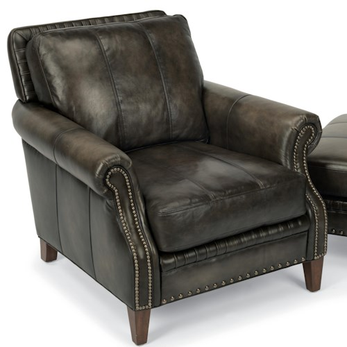 Flexsteel Latitudes-Daltry Transitional Chair with Rolled Arms and Nailhead Trim