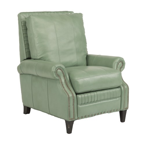 Flexsteel Latitudes-Daltry Transitional Power High Leg Recliner with Nailhead Trim