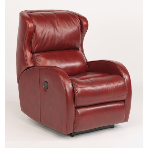 Flexsteel Latitudes-Dawson Contemporary Power Recliner with Bustle Back