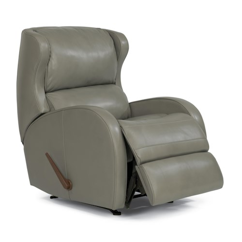 Flexsteel Latitudes-Dawson Contemporary Rocker Recliner with Bustle Back