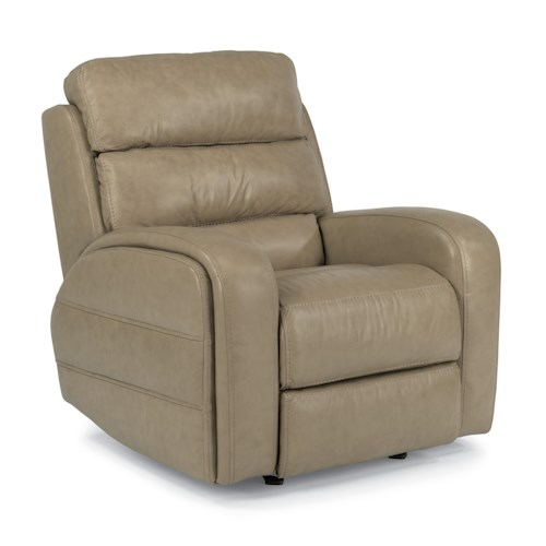 Flexsteel Latitudes-Elliot Casual Power Motion Glider Recliner with Line-Tuft Topstitching
