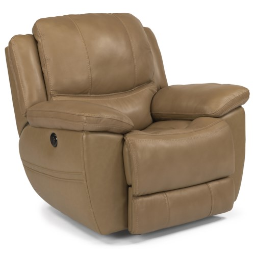 Flexsteel Latitudes-Estella Casual Power Glider Recliner with Padded Head and Neck Support