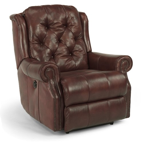 Flexsteel Latitudes-Fairfax Tufted Roll Arm Recliner w/ Power