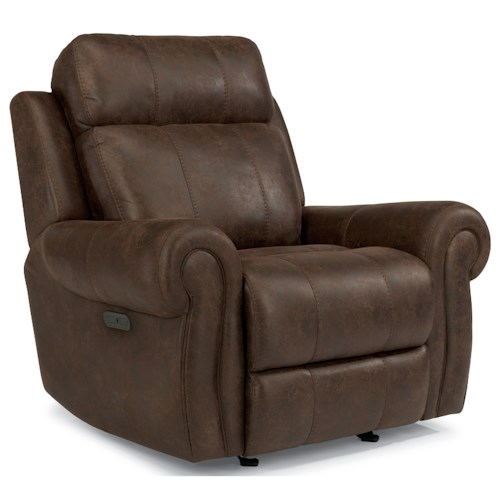 Flexsteel Latitudes-Forrest Power Gliding Recliner with Adjustable Headrest and USB Ports