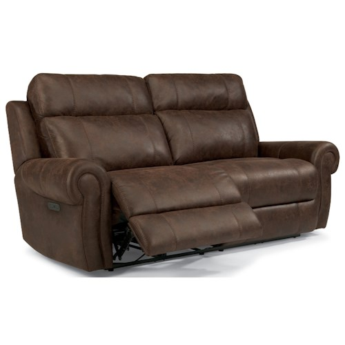 Flexsteel Latitudes-Forrest Power Reclining Sofa with USB Ports and Adjustable Headrest