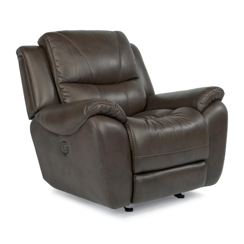 Flexsteel Latitudes - Hilliard Power Glider Recliner with USB Charging Port