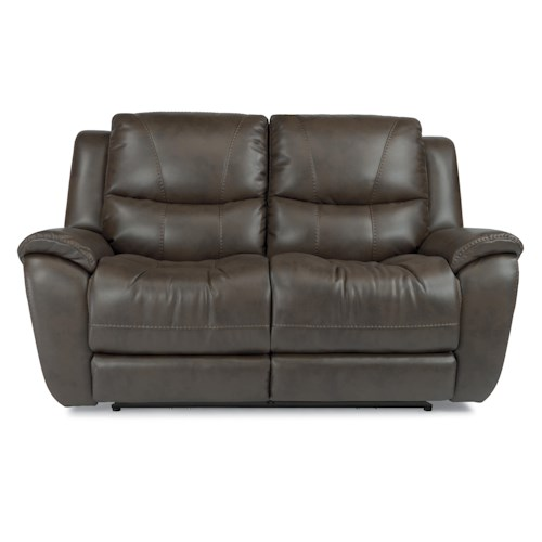 Flexsteel Latitudes - Hilliard Power Lay Flat Reclining Loveseat with USB Charging Ports