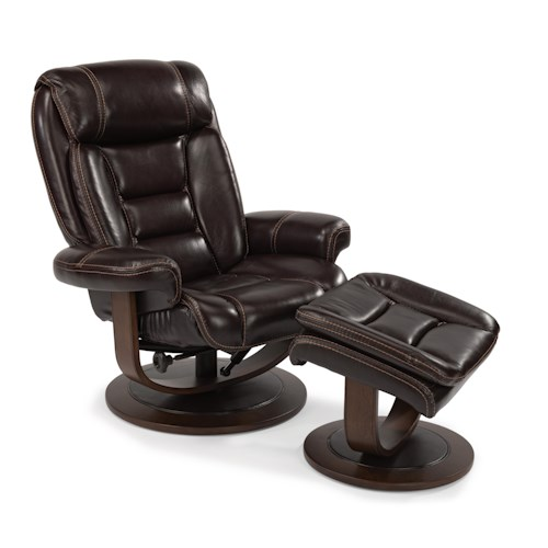 Flexsteel Latitudes-Hunter Modern Zero-Gravity Reclining Chair and Ottoman Set