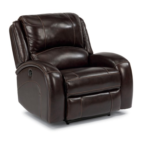 Flexsteel Latitudes-Jenison Casual Lay-Flat Recliner with Contrast Topstitching