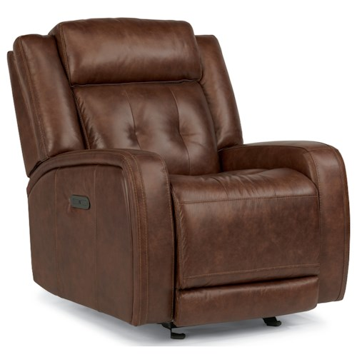 Flexsteel Latitudes-Jude Power Gliding Recliner with Adjustable Headrest and USB Ports