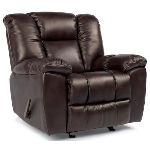 Flexsteel Latitudes-La Crosse Casual Gliding Recliner with Pillow Arms
